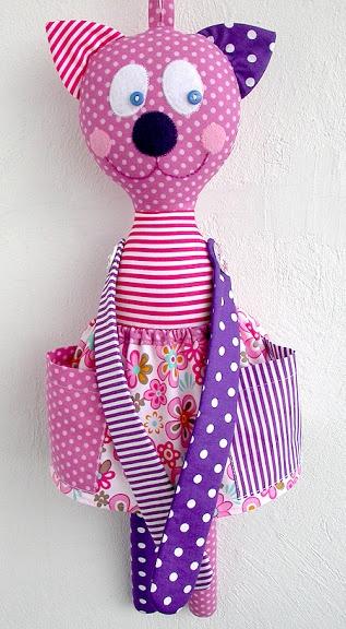Made by Irinelli: Кошечка – хранительница заколок и резинок