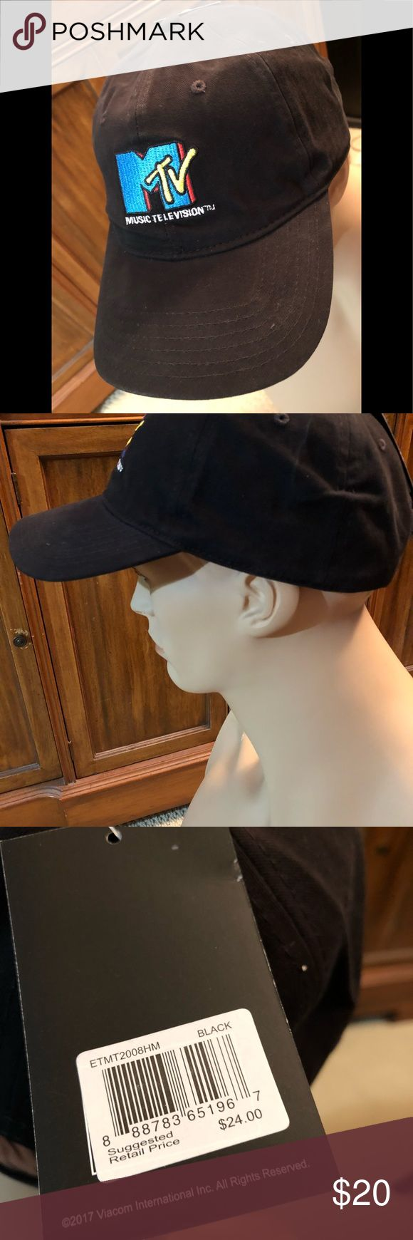 MTV music television adjustable hat cap New with tags adjustable MTV black cap Accessories Hats