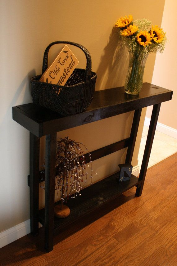 Beautiful Primitive Look Sleek Black SOFA Table Custom Made Sizes To Order Different Colors Upon Request on Etsy, $89.95