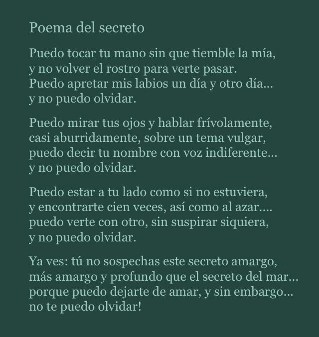 Poema del Secreto-Jose Angel Buesa