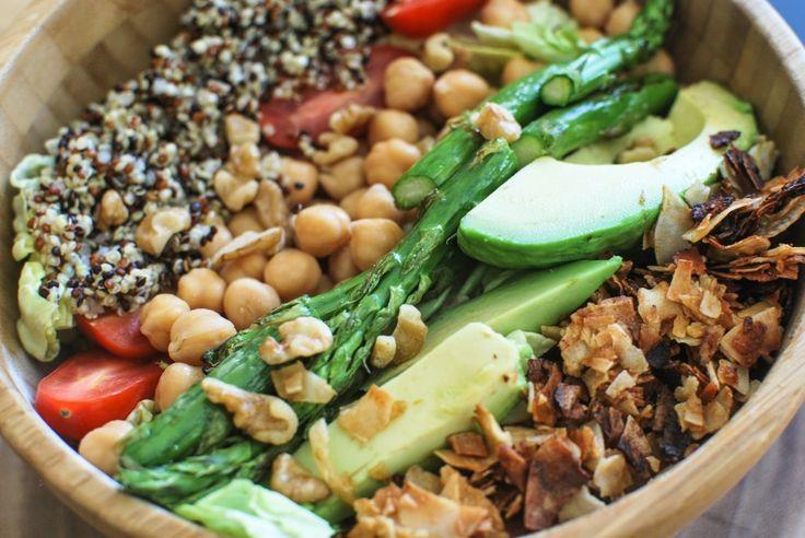 Vegan Cobb Salad with Green Tahini Dressing