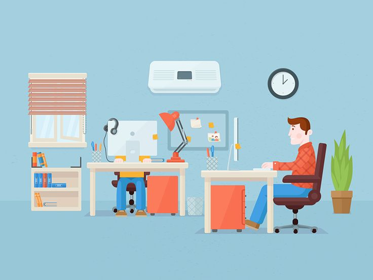 Flat Office by Yasir Buğra Eryılmaz