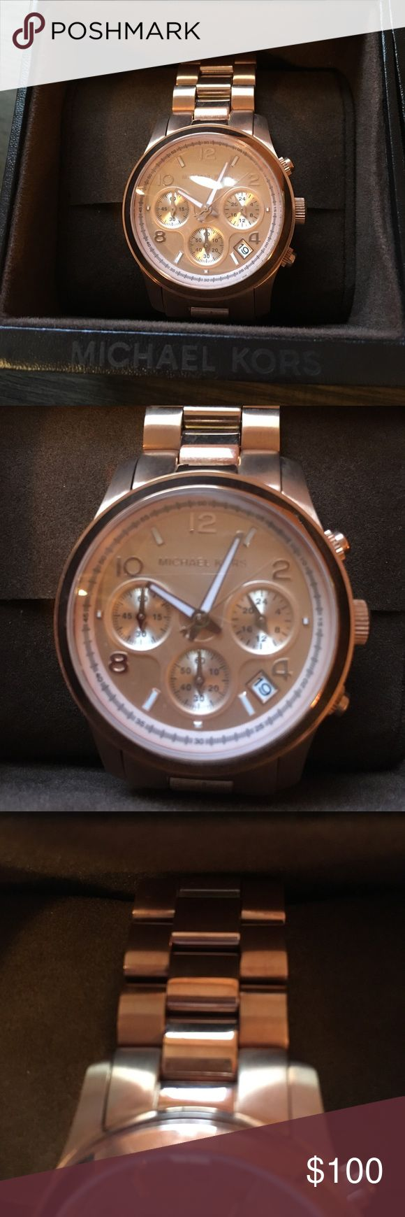 Brand new Michael Kors watch Brand new Michael Kors watch. I received it as a Christmas present, but I prefer silver. I do not have the receipt. Michael Kors Accessories Watches