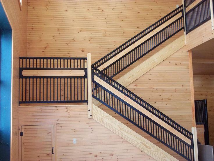 Custom built railing #beautiful #RockinJ #horsestalls
