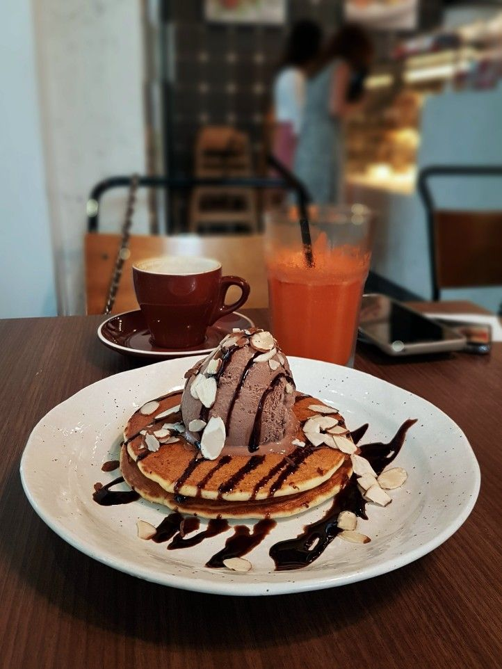 """Pancake & Eggless Ice Cream"", Cedele Bakery Kitchen, Singapore"
