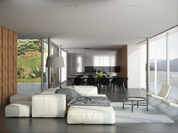 render build-design salotto+cucina