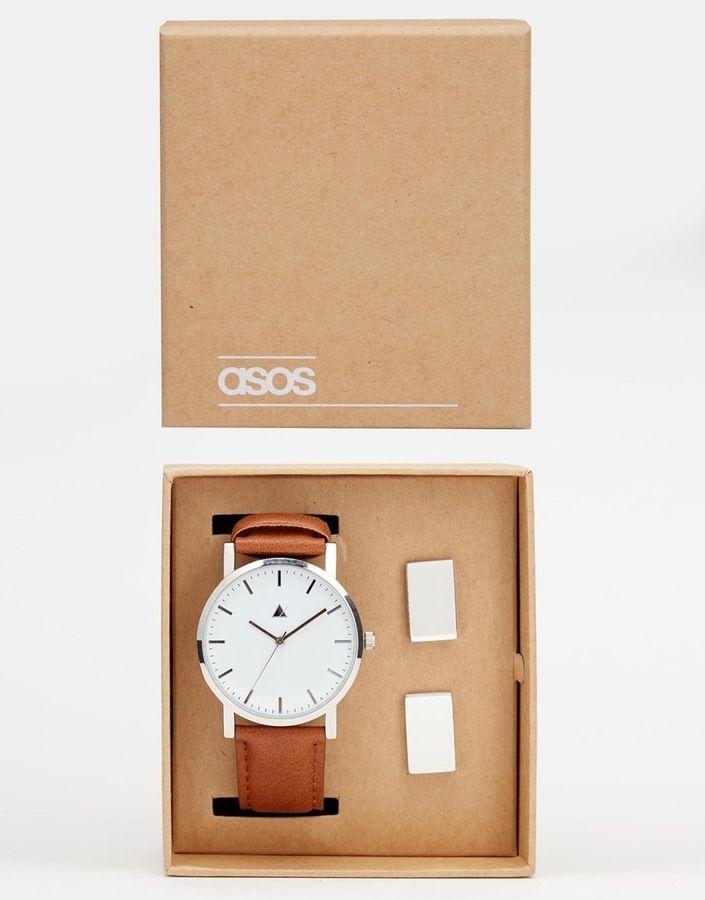 Watch And Cufflink Set  More: http://mckayfashion.eu/ss/item/55e97a277fa561b8395d1d0f