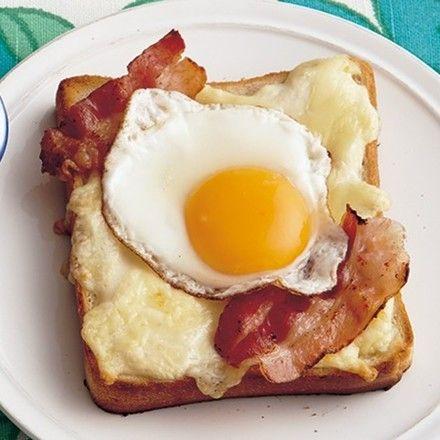 休日の朝ご飯やランチに! ボリュームたっぷりのっけトースト5選 画像(15/5) 「簡単クロックマダム」 レタスクラブニュースより