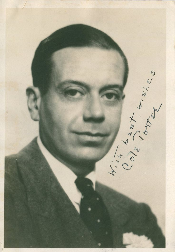 PORTER COLE: (1891-1964) American Composer. Vintage signed sepia 4.5 x 6.5 photograph of Porter in a head and shoulders pose. Signed in dark fountain pen ink to a clear area of the background of the image.