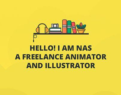 Portfolio website for Dubai based creative illustrator and animator Nasibah AlHussain. Please visit www.nasibah.co