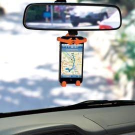 Bondi - holds your cell phone exactly where you can see; great idea especially when using phone as GPS- this would be a great stocking stuffer.- TO ME