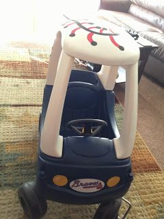 Too Many Crafts, Too Little Time: Atlanta Braves Cozy Coupe Makeover