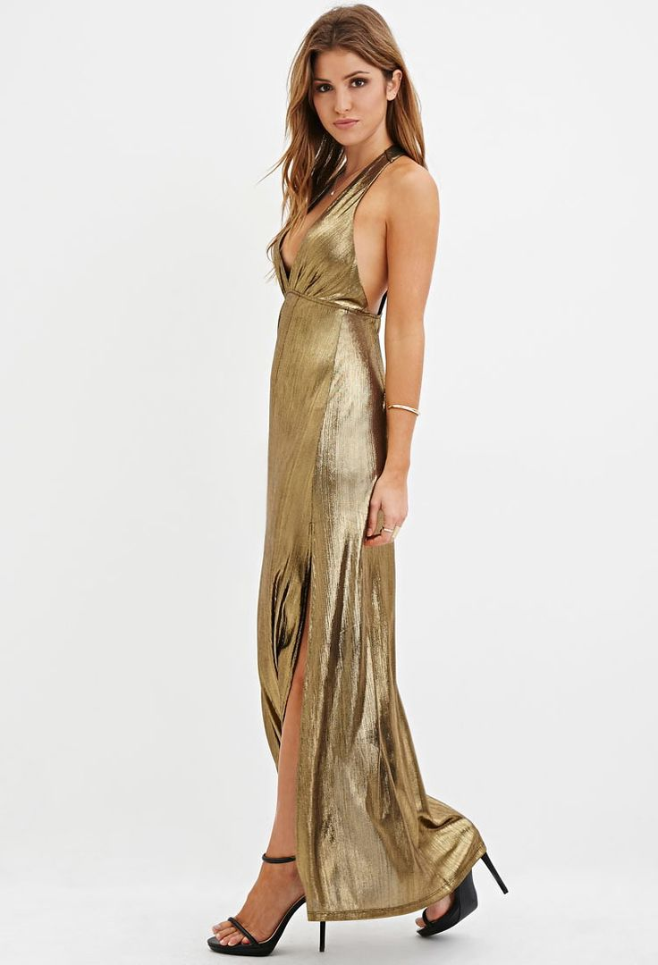 goldblack-metallic-halter-maxi-dress-