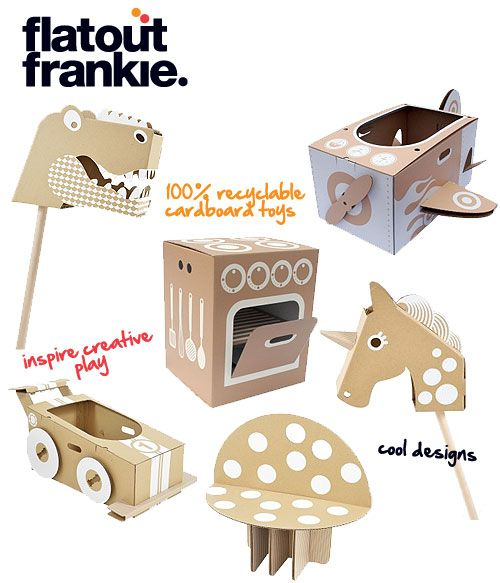flatout frankie - cool recyclable cardboard toys!