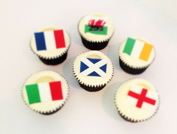 Rugby 6 Nations Flag Cupcakes