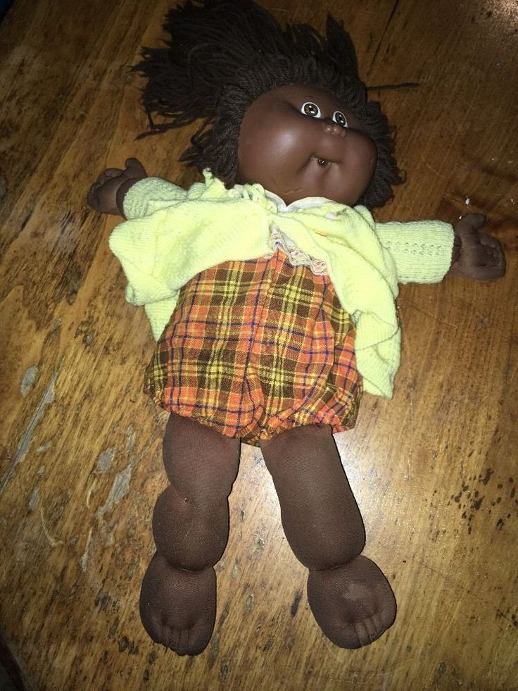VINTAGE BLACK CABBAGE PATCH DOLL 1978-1982 DISPLAY DOLL BY XAVIER ROBERTS #CabbagePatch #DollswithClothingAccessories