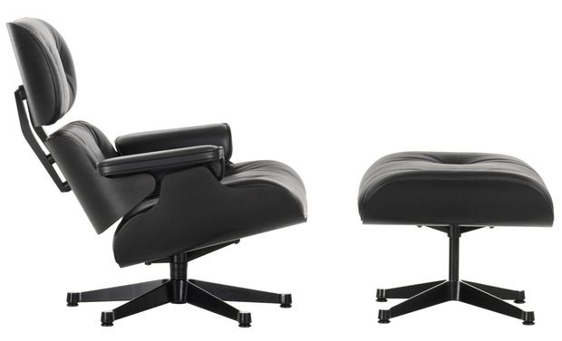 Eames Collection Update by Vitra - Ray and Charles most iconic designs re-imagined in all black for the first time