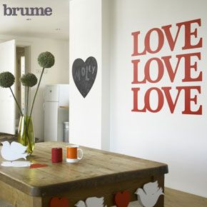 Big Love, Stickers For Your Walls U0026 Decorative Wall Stickers From Brume Ltd