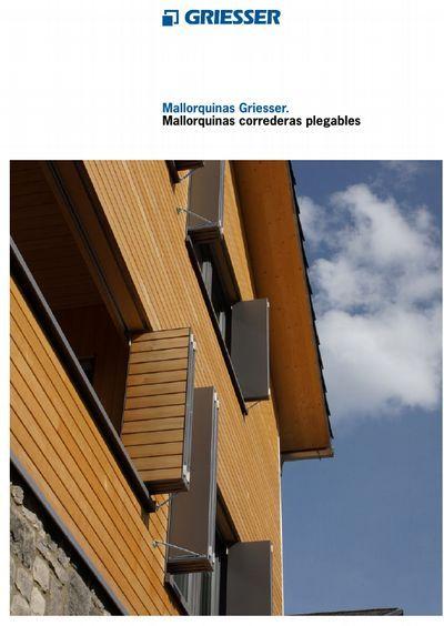 Mallorquina corredera plegable - Productos   Griesser España