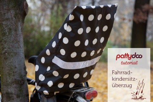 Pattydoo Fahrrad Kindersitzüberzug nähen, Fahrrad Kindersitz Schutz/ Überzug / Cover