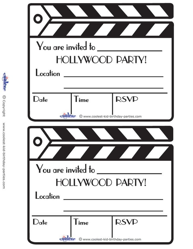 Printable Clapboard Invitations Coolest Free Printables