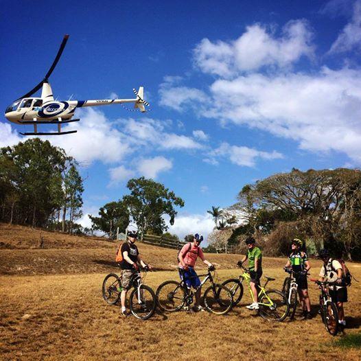 Heli-Mountain Biking Port Douglas' hinterland with www.backcountrybliss.com.au