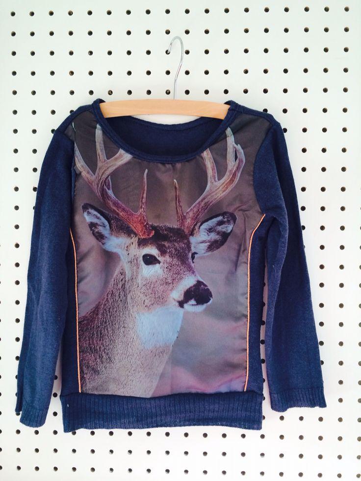 Look alike Wild! t-shirt = kussensloop zeeman - ottobre patroon - koper paspelband - oud vest ||recykleren