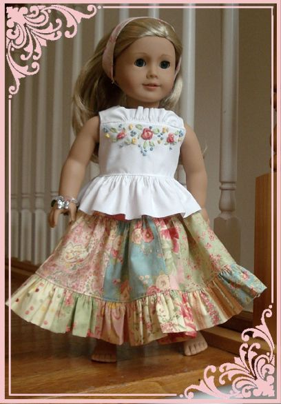 "Free Twirl dress pattern (download) for an 18"" Doll! Amazing!"