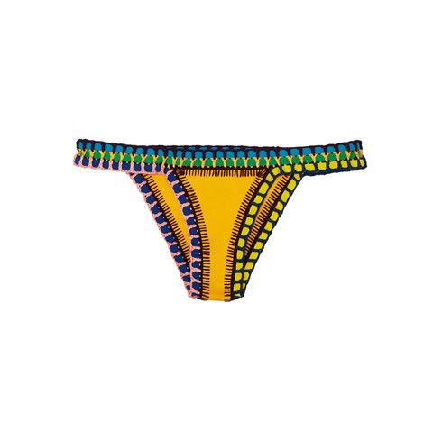 Beach & holiday fashion | must have yellow Ro - Bikini Bottom | Kiini 's colourful swimwear | crochet bikini | summer trend @monstylepin