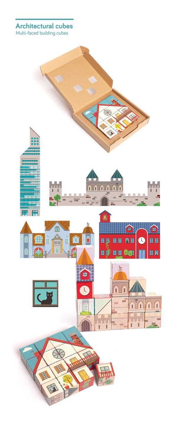 Illustrated wooden Toys 2 by Sebastián Rubiano, via Behance