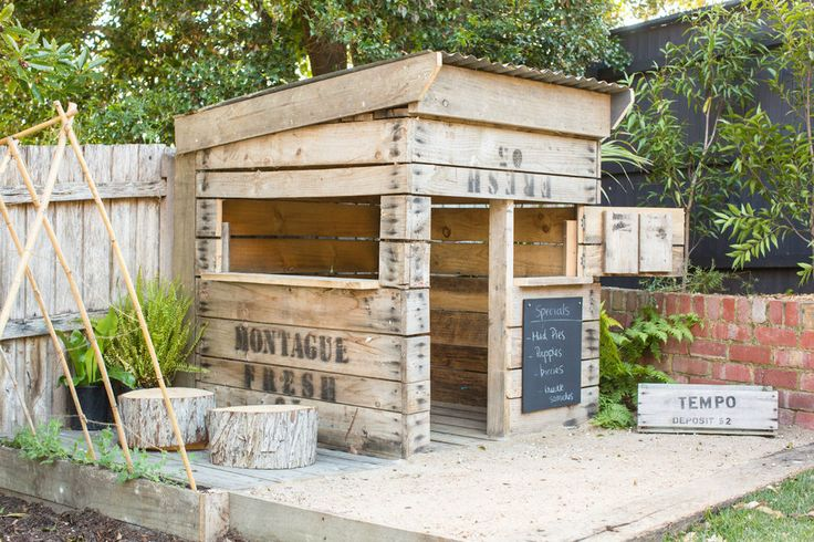 Cubby House - Rustic Recycled Timber