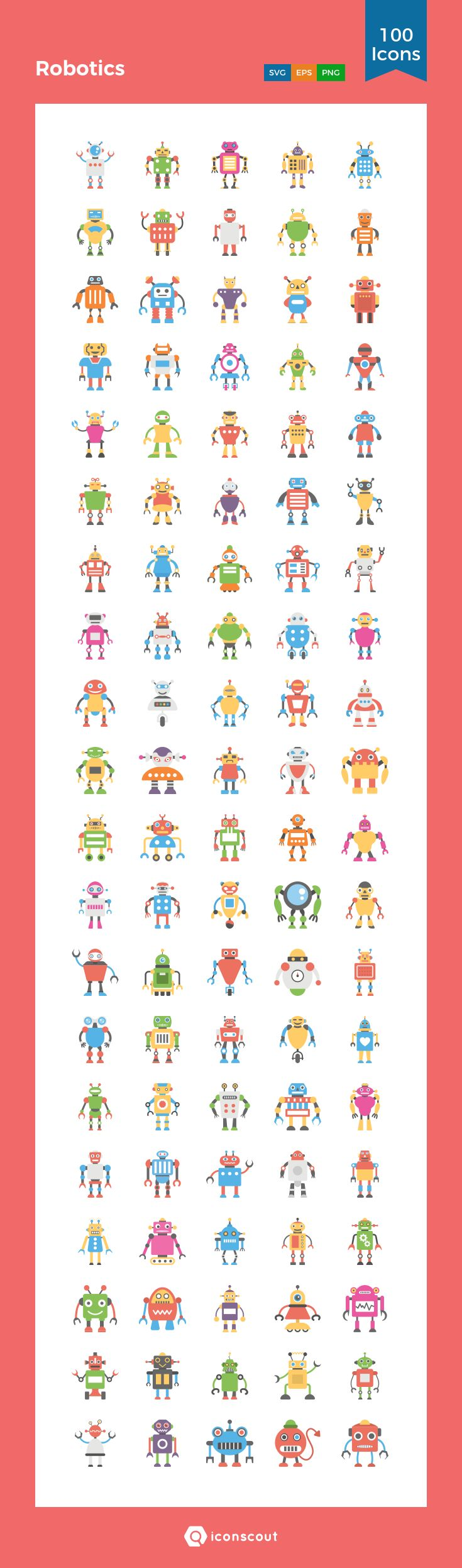 Robotics   Icon Pack - 100 Flat Icons