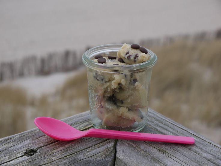 Das Rezept für diesen leckeren Cookie Dough verrate ich auf