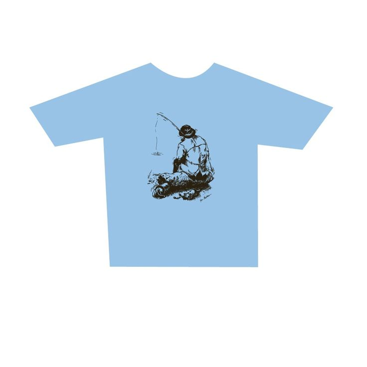 Adult Fisher t-shirt, zinc. Buy form Holvi webstore. #t-shirt #fisher #fisherman #fishing
