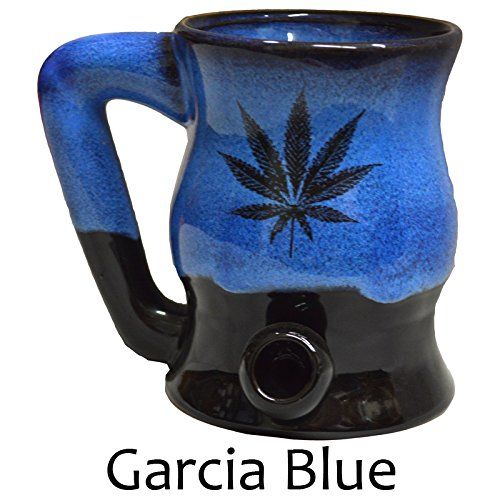 Marijuana Leaf Bake -n- Wake in Garcia Blue Glaze http://amzn.to/1Y02Z7X  like us on Facebook and check out our photo albums for awesome products, tutorials, clothing and more: https://www.facebook.com/Kush-it-to-the-limit-978159875584917/