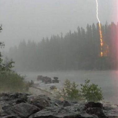 Lightning Hitting A Tree