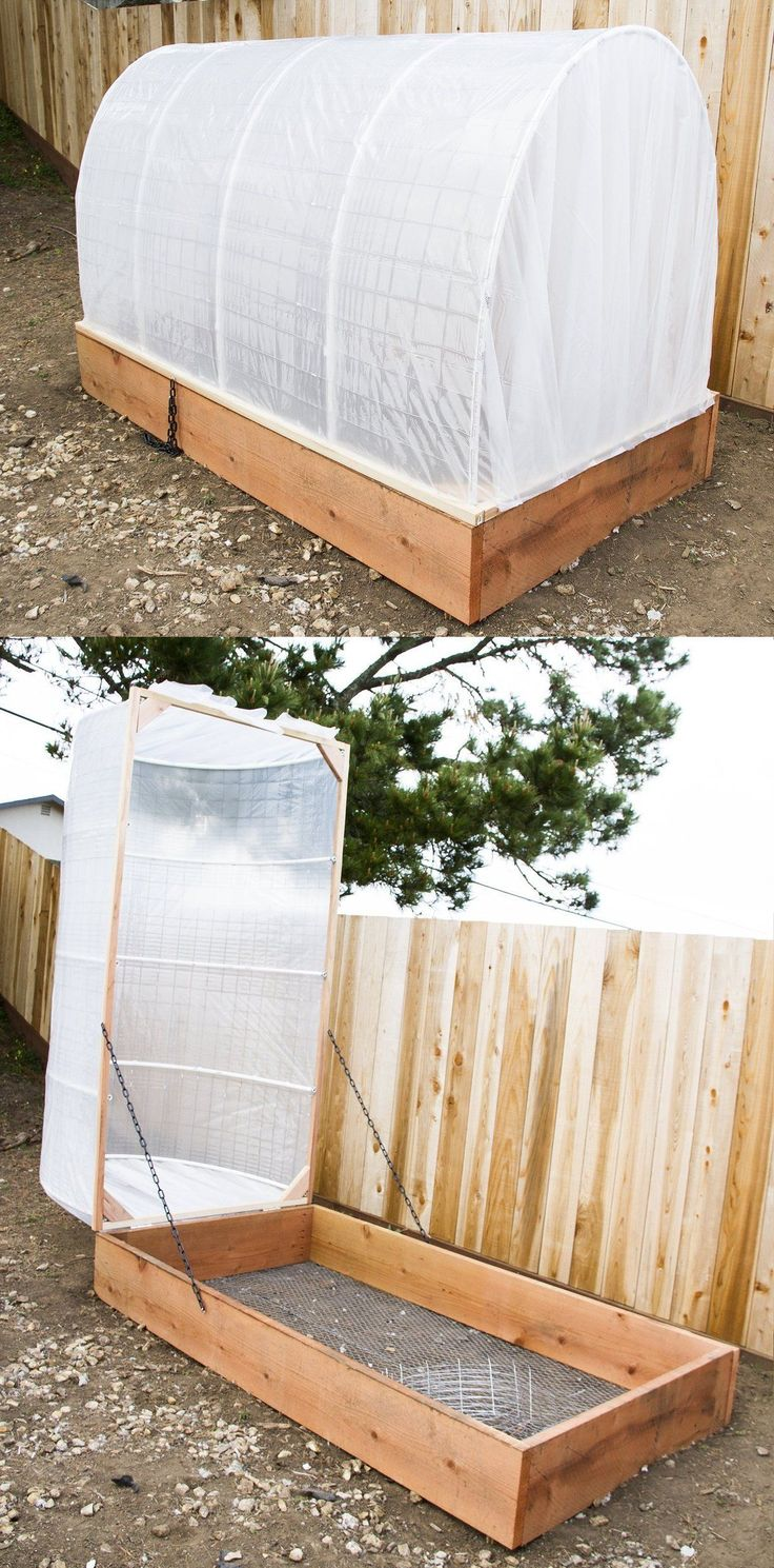 DIY Covered Greenhouse Garden:  A Removable Cover Solution to Protect Your Plants | Apartment Therapy Tutorials #gardening