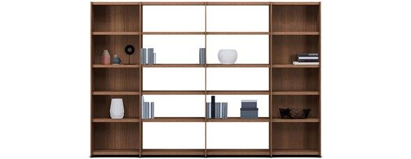 Meda wall system, the product is available in different colours. As shown, walnut veneer. H182½xW270½xD35½cm. [Meda - MC00]  Article no.: 3420MC000059A02  $5,249  Meda wall systems - customised wall systems and bookcases from BoConcept Furniture Sydney Australia