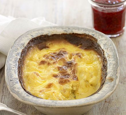 Slow-baked clotted cream rice pudding. Homemade rice pudding with your own quick raspberry jam is the ultimate in comfort food