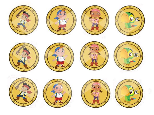Printable Jake Pirate Coins Jake And The Neverland