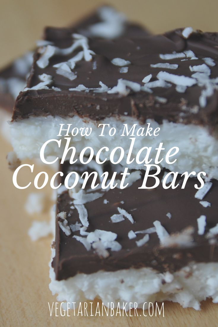 How To Make Chocolate Coconut Bars.   This recipe is amazing. It is only 4 ingredients and takes no time.