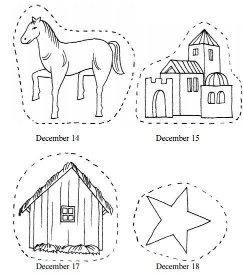 printable nativity advent chain nativity coloring pageschristmas