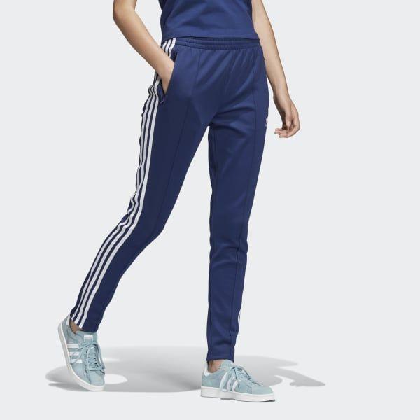 adidas SST Track Pants - Blue | adidas US | Blue adidas ...