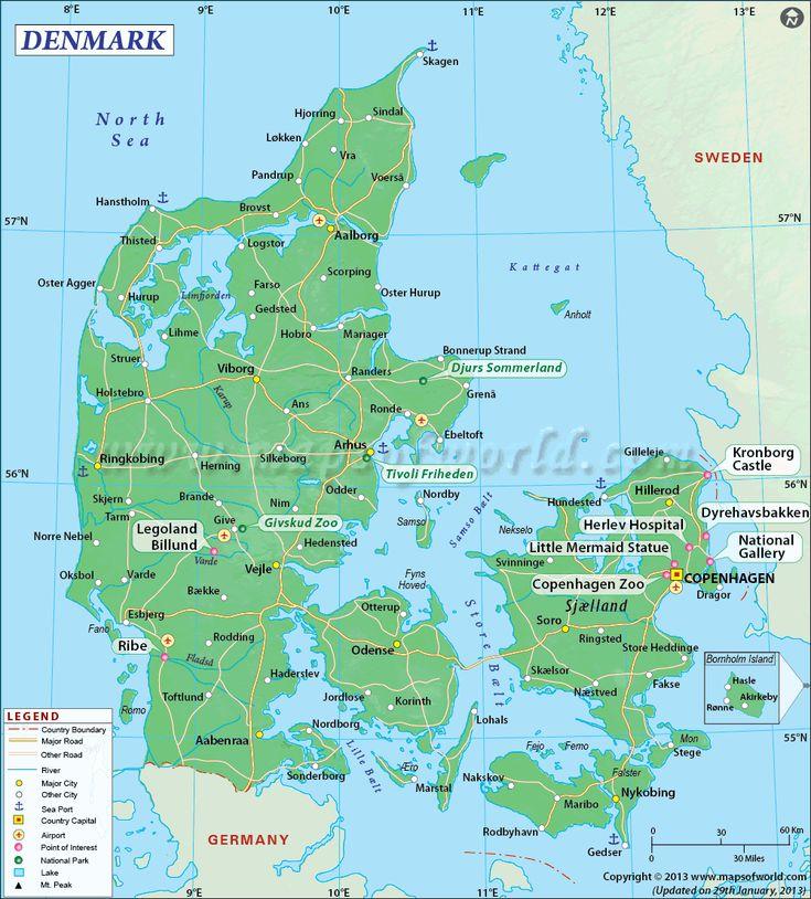 The 25 best Map of denmark ideas on Pinterest  Map of copenhagen