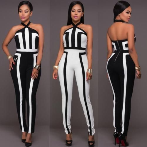 Ladies Women Clubwear Long Pants Playsuit Bodycon Party Jumpsuit&Romper Trousers in Clothing, Shoes & Accessories, Women's Clothing, Jumpsuits & Rompers   eBay
