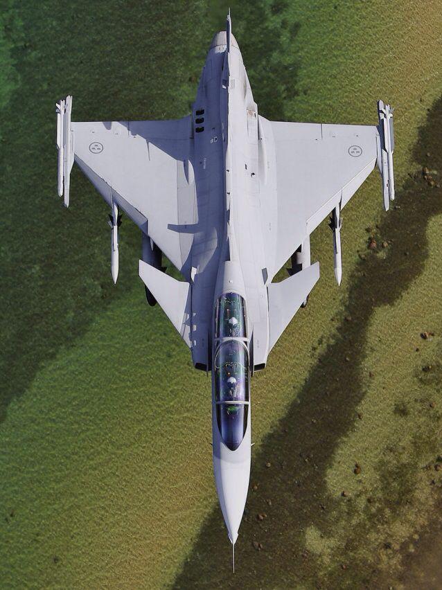 "Saab JAS 39B Gripen (""Griffon"") - Flygvapnet (Swedish Air Force)."