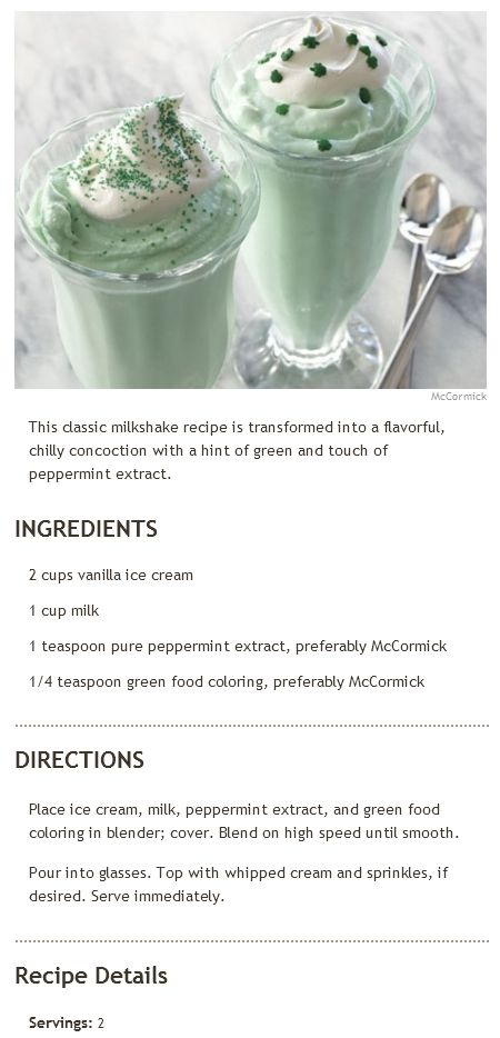 Recipe | Mint Milkshake