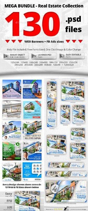 10 in 1 Real Estate Web & FB Banners - Mega Bundle 2 19578503