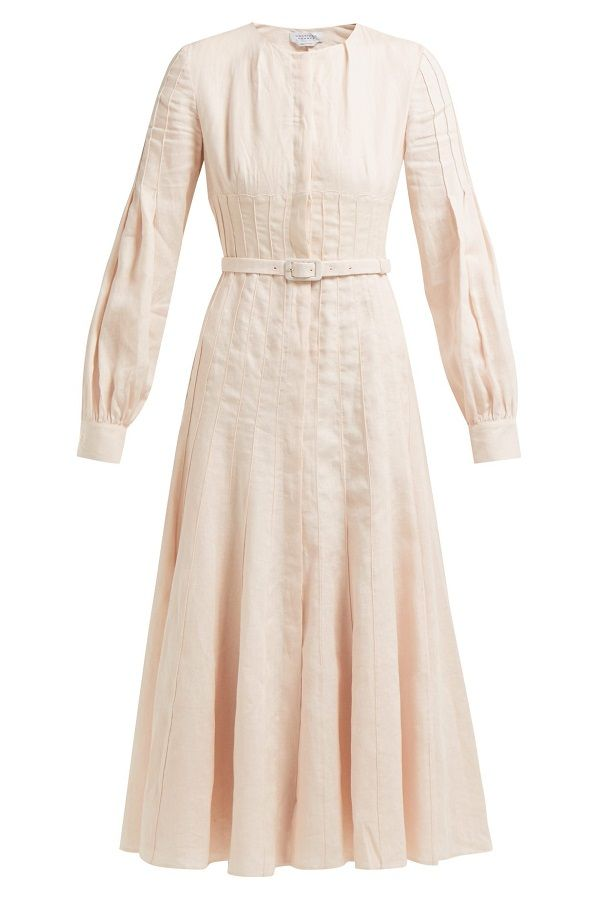 ae6c1503ba  GabrielaHearst s light pink Gertrude  dress is made from aloe vera-infused  linen