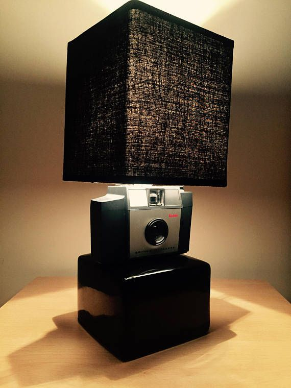 Check out this item in my Etsy shop https://www.etsy.com/uk/listing/481916818/kodak-box-brownie-camera-converted-lamp